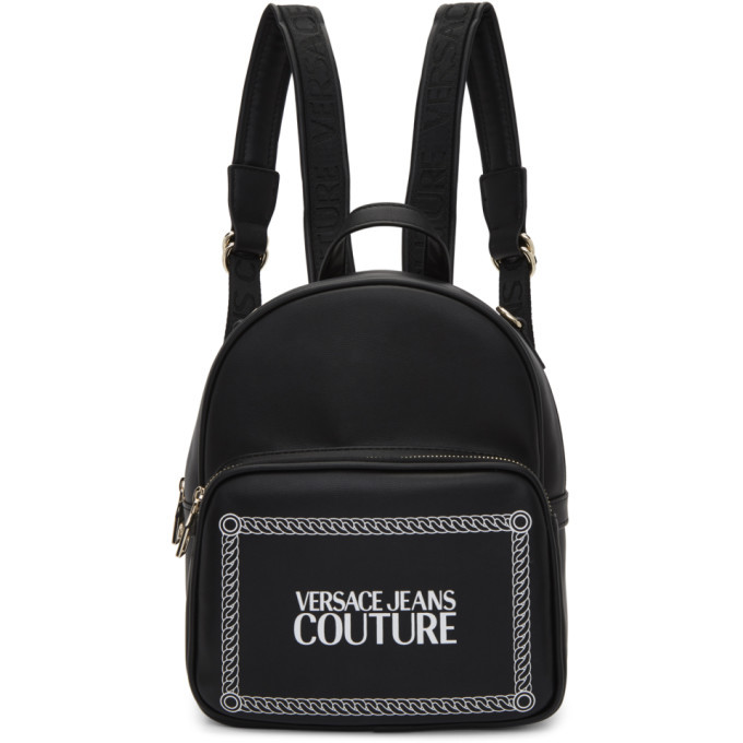 Photo: Versace Jeans Couture Black Small Square Logo Backpack