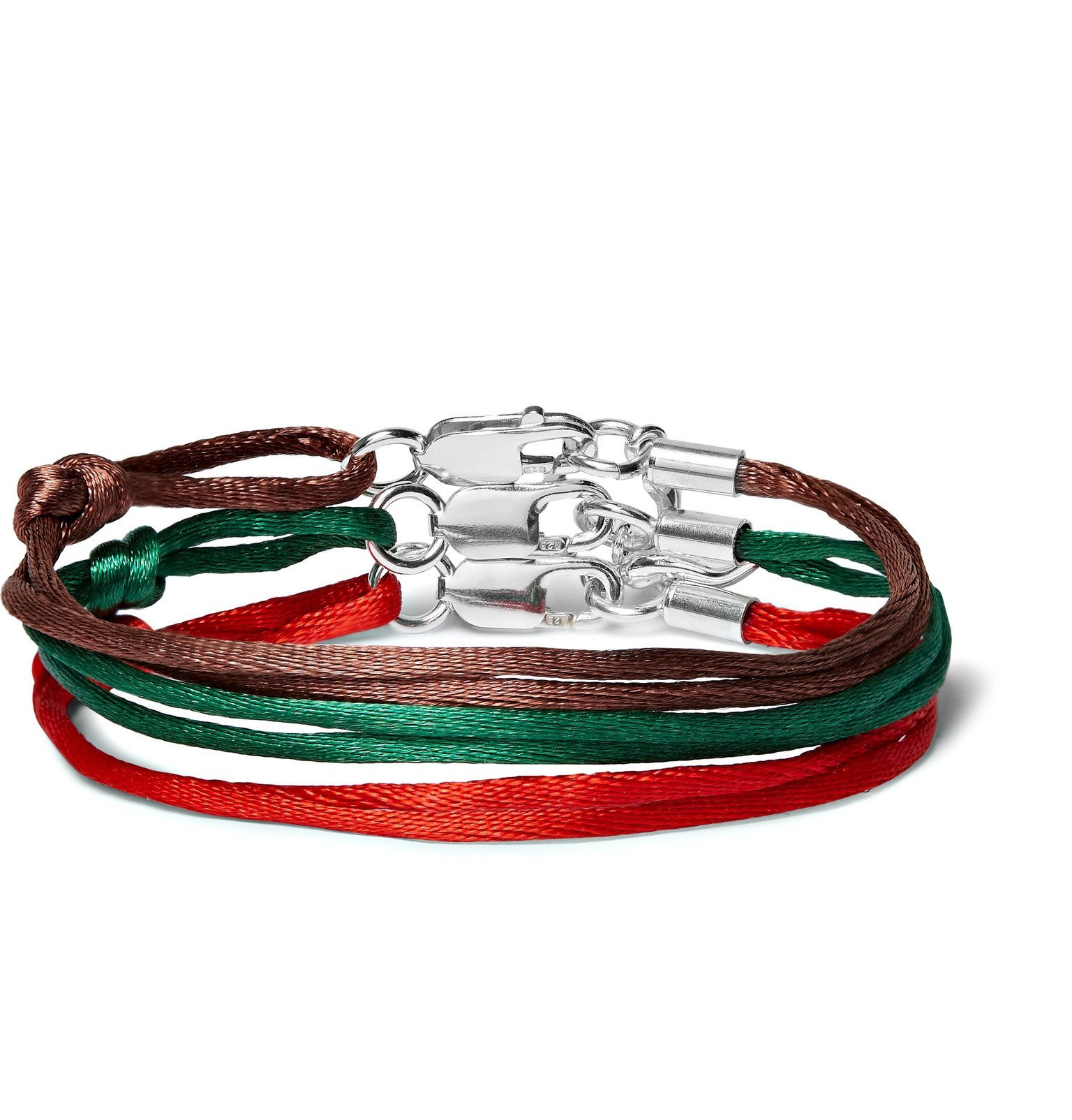 Photo: Rubinacci - Set of Three Silk Bracelets - Red