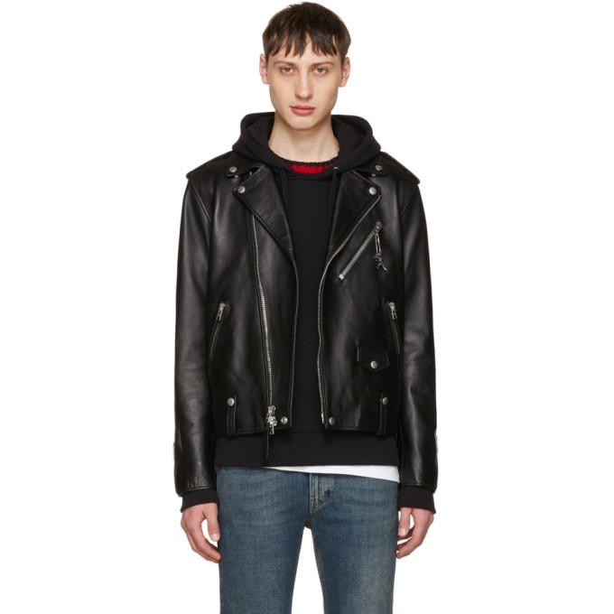 Photo: Coach 1941 Black Leather Moto Jacket