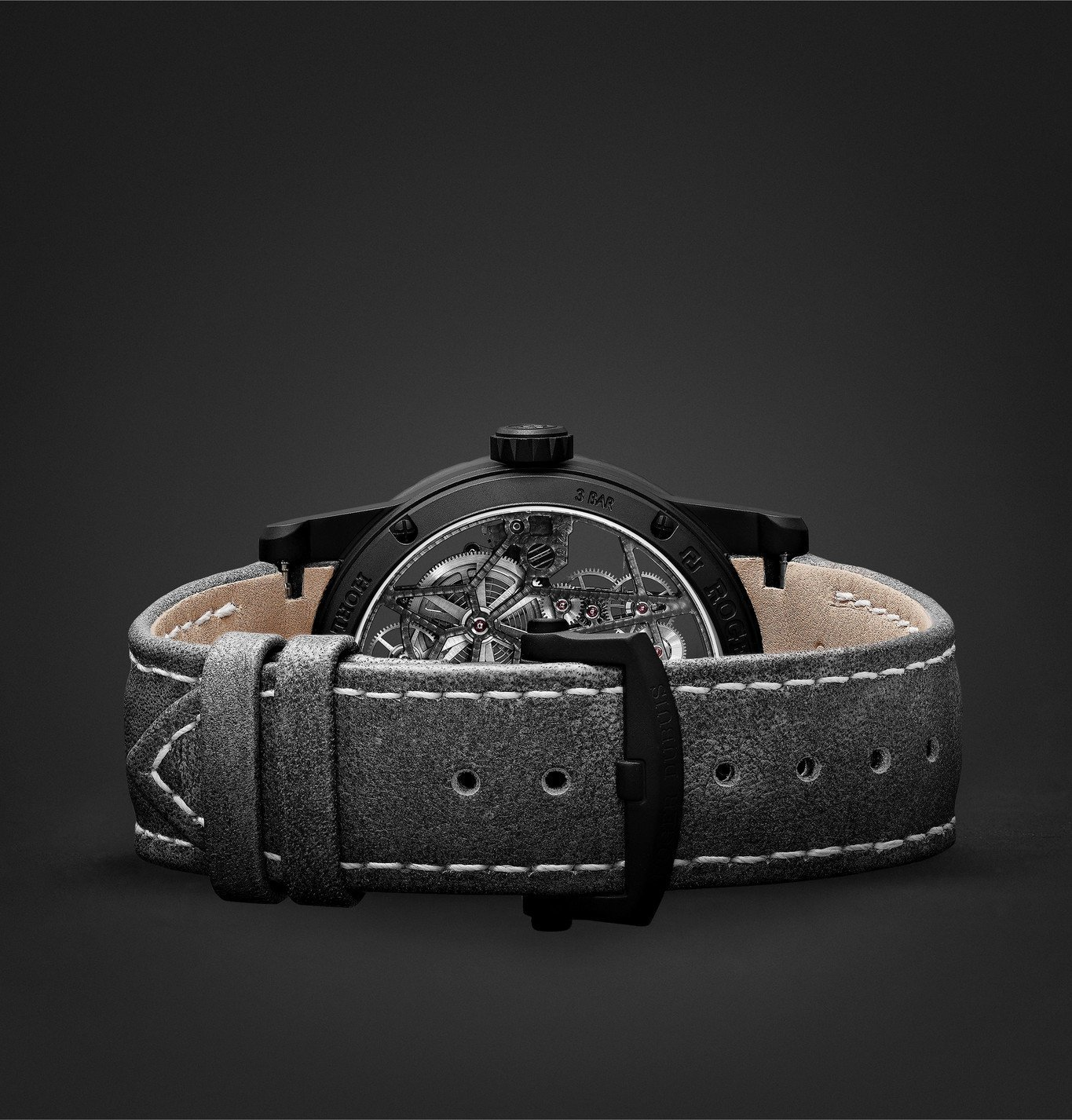 Roger Dubuis - Excalibur Automatic Skeleton 42mm Titanium and Leather Watch, Ref. No. DBEX0726 - Unknown
