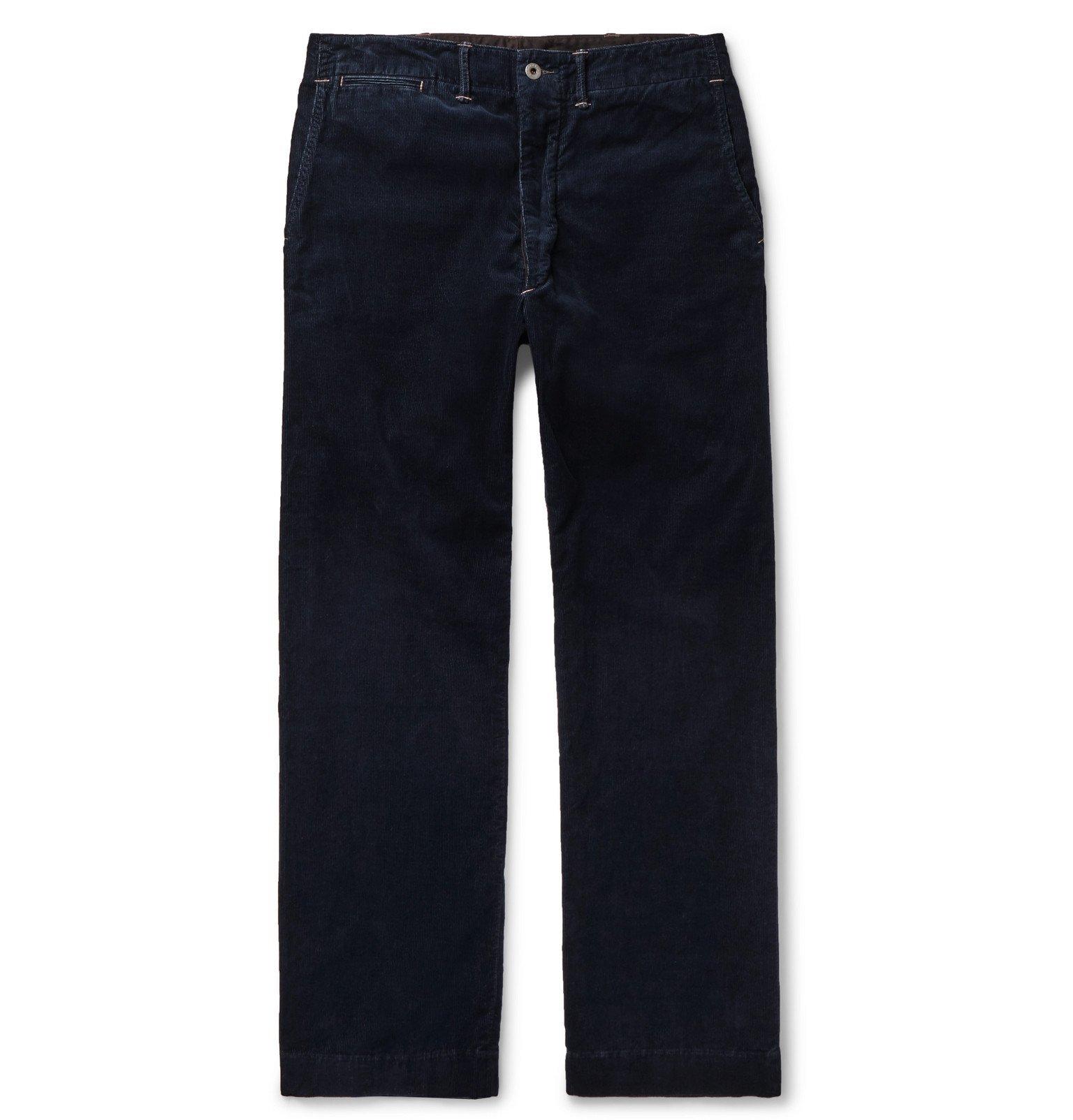 RRL - Williams Cotton-Blend Corduroy Trousers - Blue