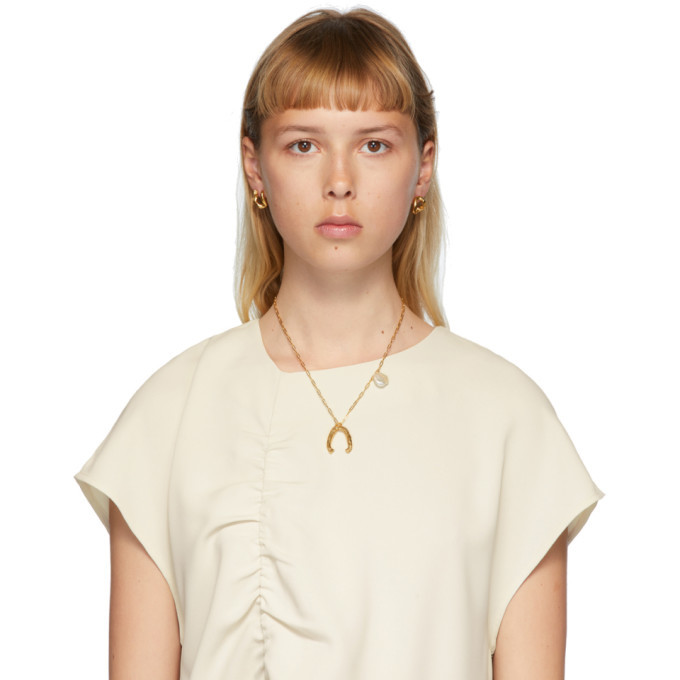 Alighieri Gold Pearl The Flashback and The River Necklace