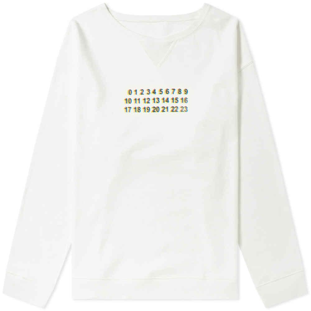 Photo: Maison Margiela 10 Oversized Logo Crew Sweat Off White