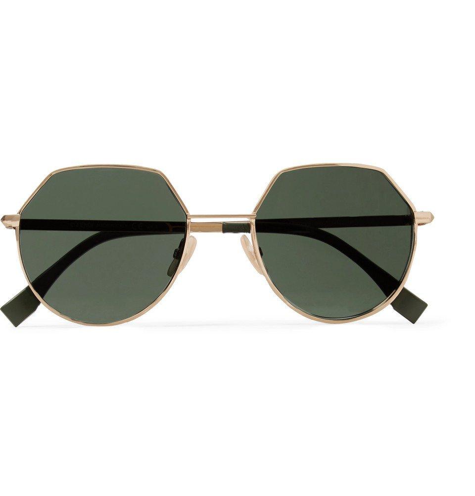 Photo: Fendi - Hexagon-Frame Gold-Tone Sunglasses - Gold