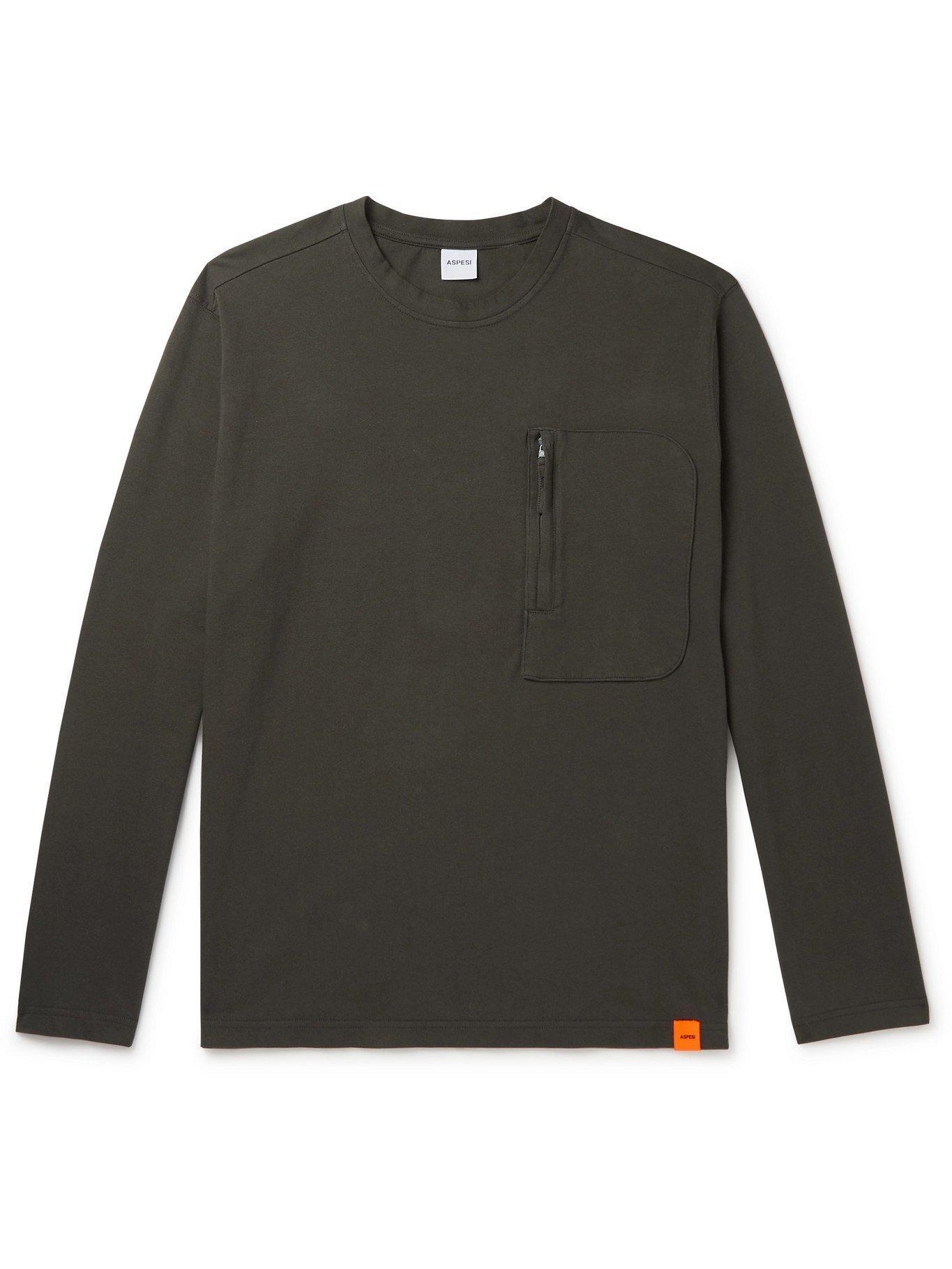 Photo: ASPESI - Cotton-Jersey T-Shirt - Gray - M