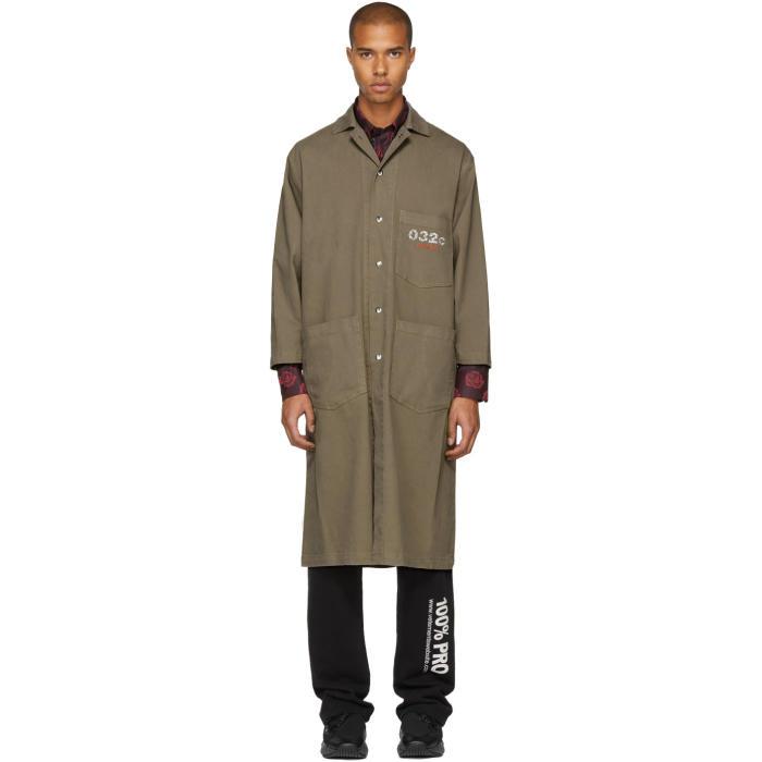 032c Beige Crystal Mac Coat