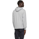 C.P. Company Grey Garment-Dyed Pullover Hoodie