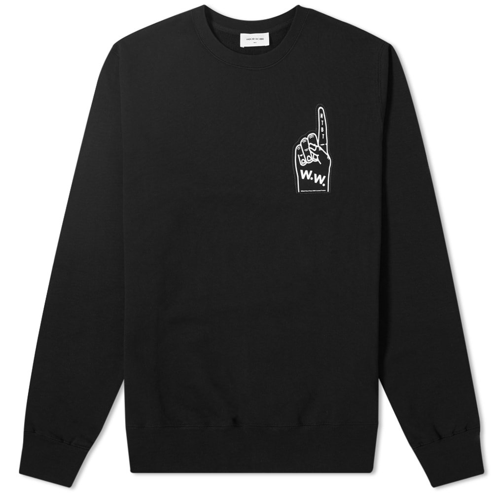 Wood Wood Foam Hand Logo Sweat