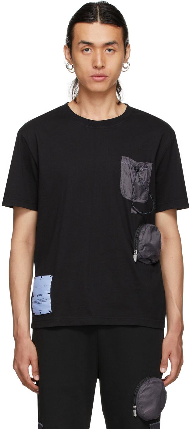 Photo: MCQ Black Nylon Overlay T-Shirt