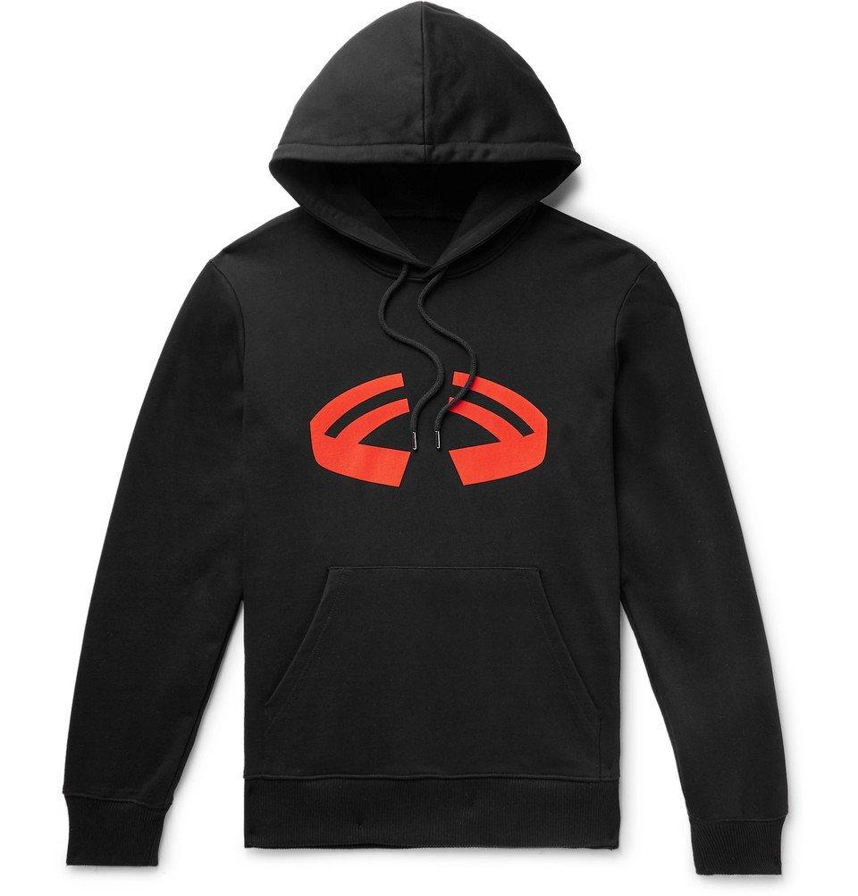 Photo: Helmut Lang - Halloween Logo-Print Loopback Cotton-Jersey Hoodie - Men - Black