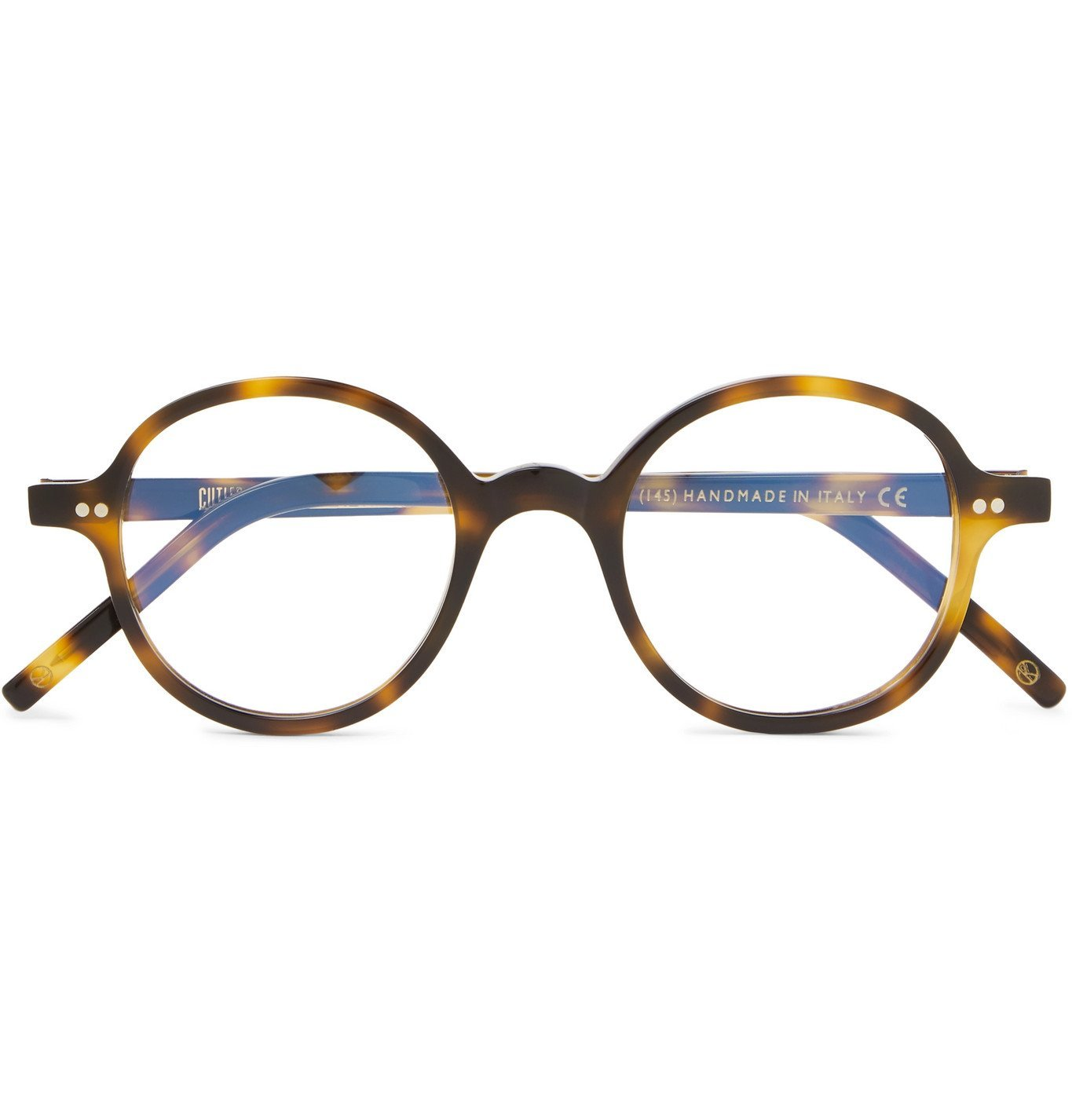 Photo: Kingsman - Cutler and Gross Round-Frame Tortoiseshell Acetate Optical Glasses - Tortoiseshell