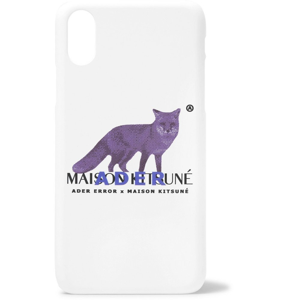 Photo: Maison Kitsuné - ADER error Logo-Print iPhone X Case - White