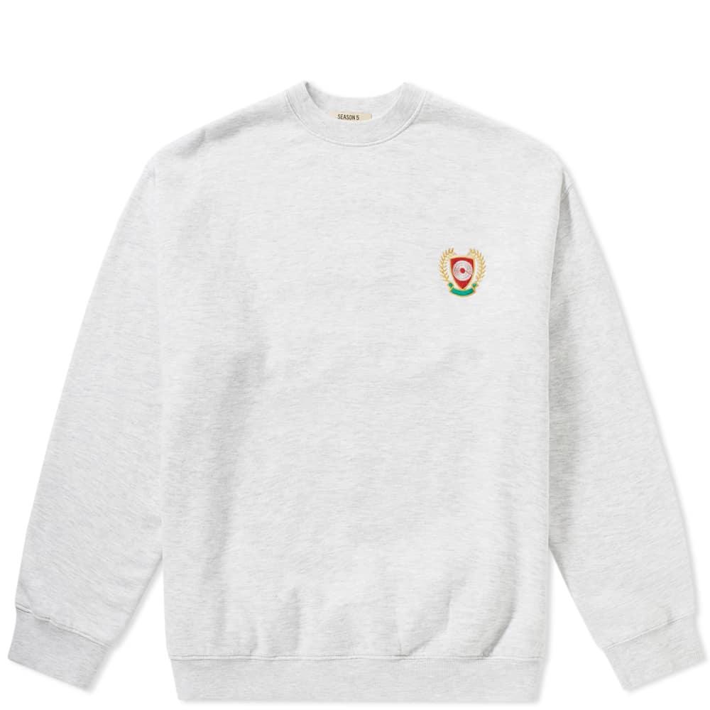 Logo 5 Sweat Season Adidas Crest Yeezy Crew OuTiPkXZ