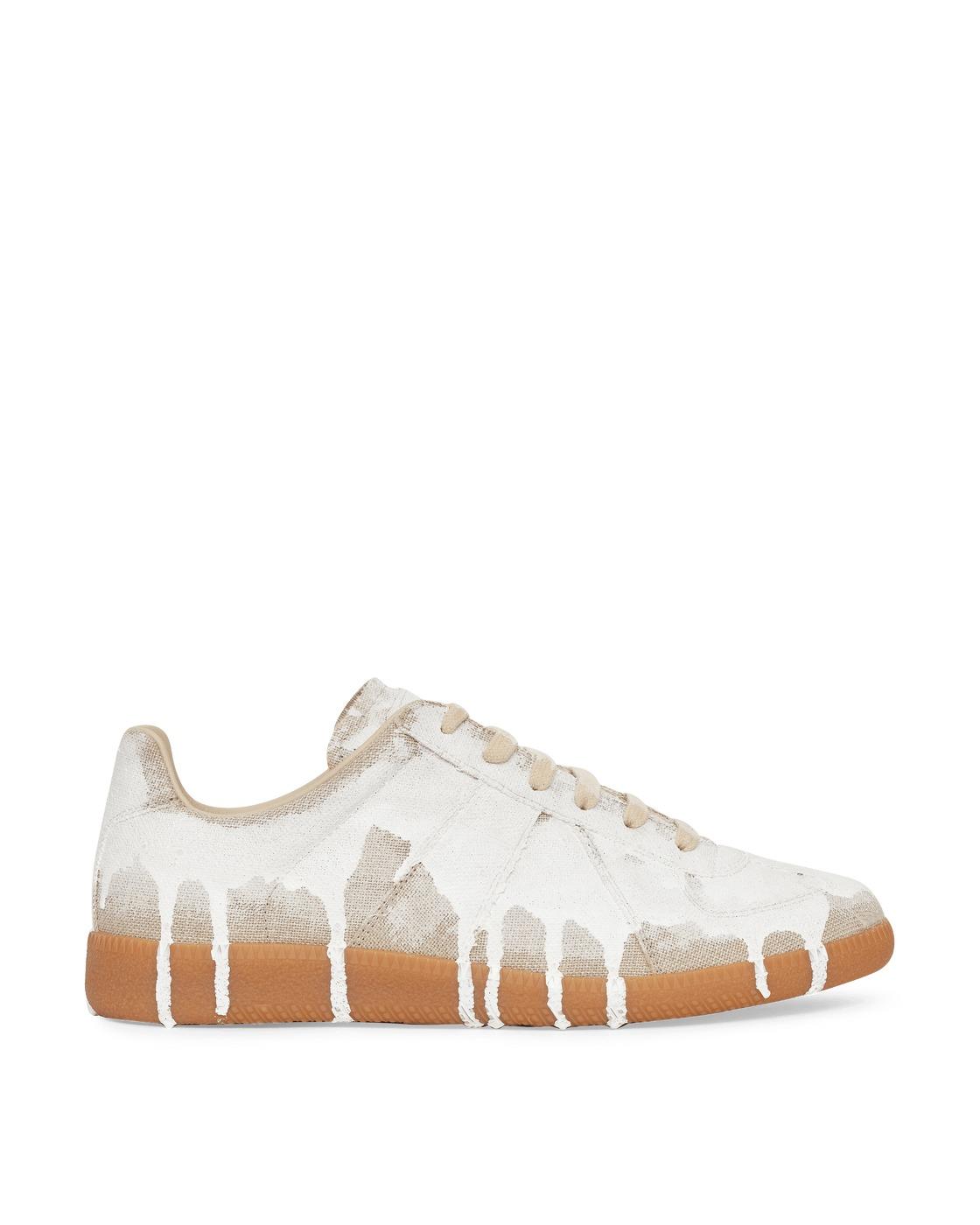Photo: Maison Margiela Replica Bianchetto Sneakers Natural/White Mat