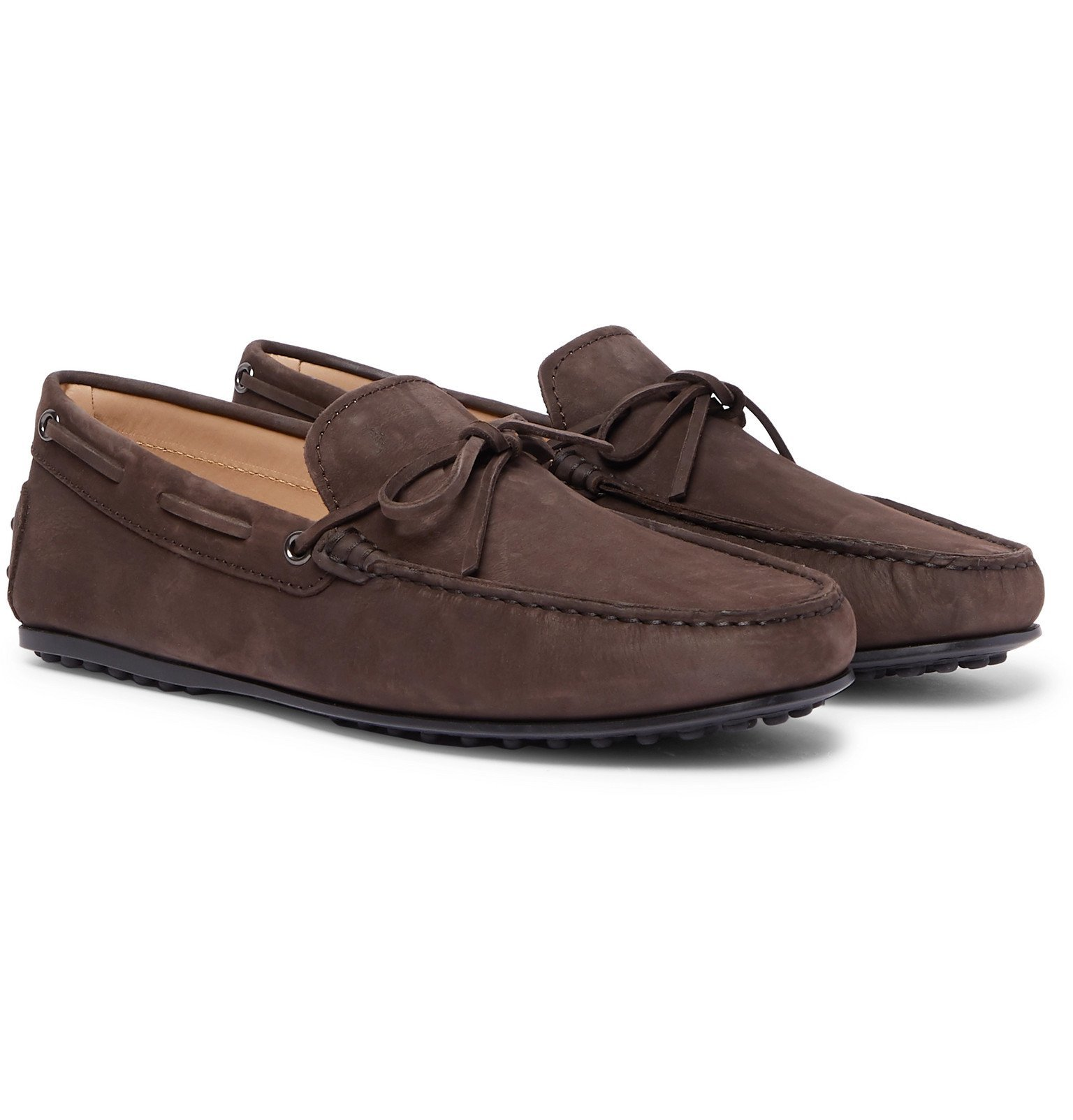 Tod's - City Gommino Nubuck Driving Shoes - Brown