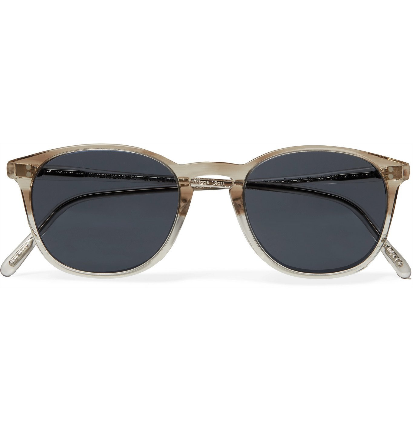 Photo: OLIVER PEOPLES - Finley Vintage Round-Frame Acetate Sunglasses - Gray