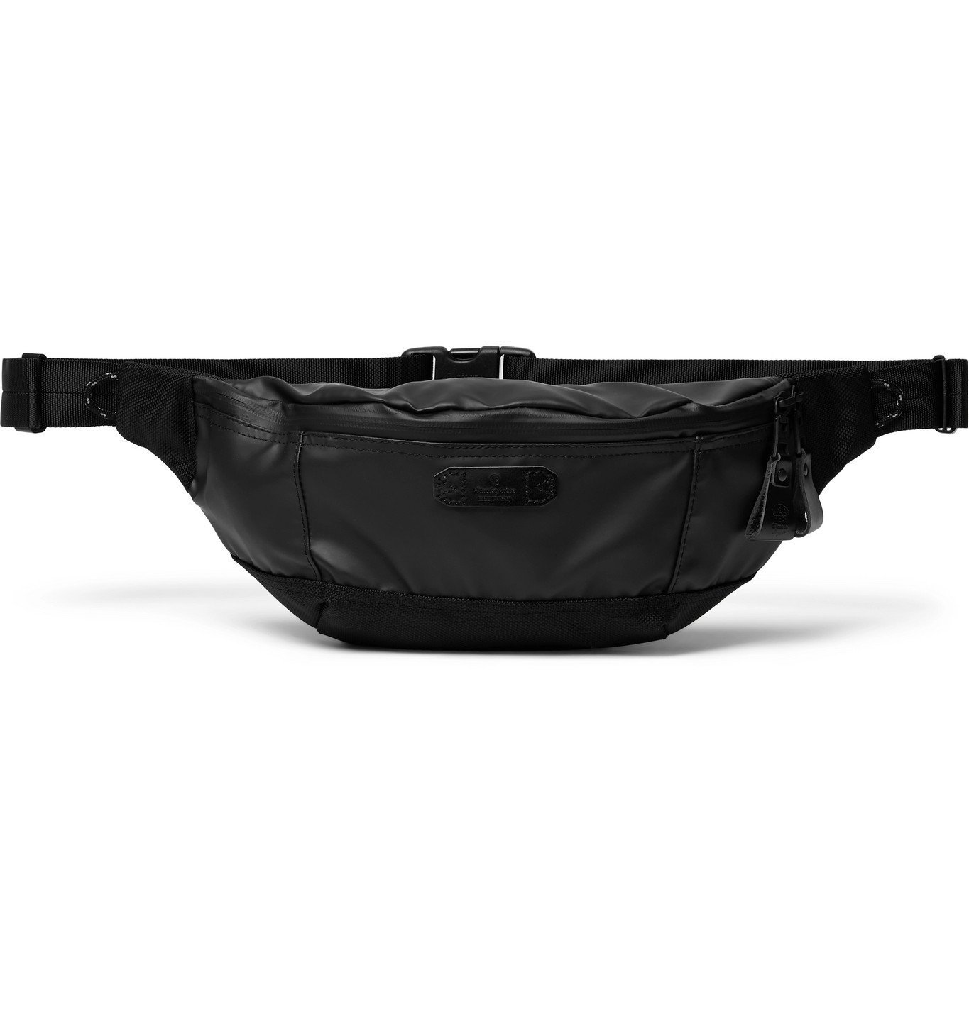 Photo: Master-Piece - Slick CORDURA-Trimmed Coated-Shell Belt Bag - Black
