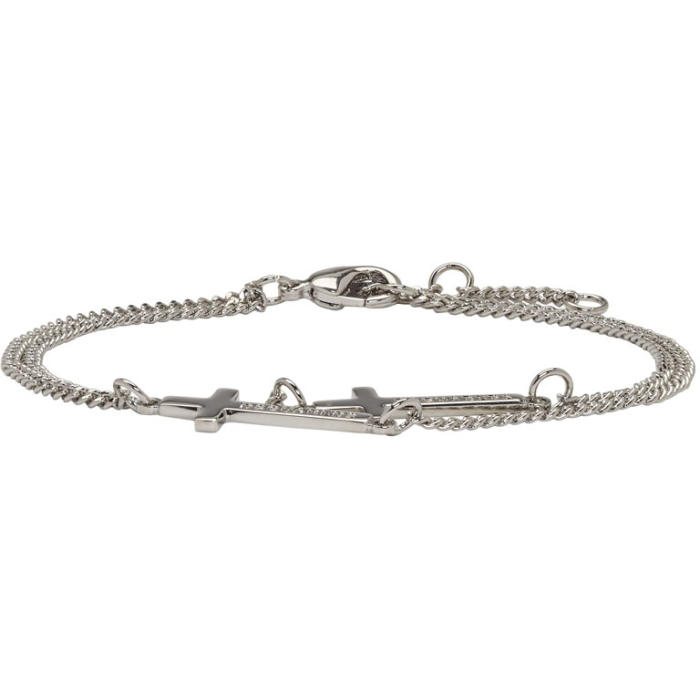 Gunmetal Double Cross Bracelet Dsquared2 Qp6cUH9EYf