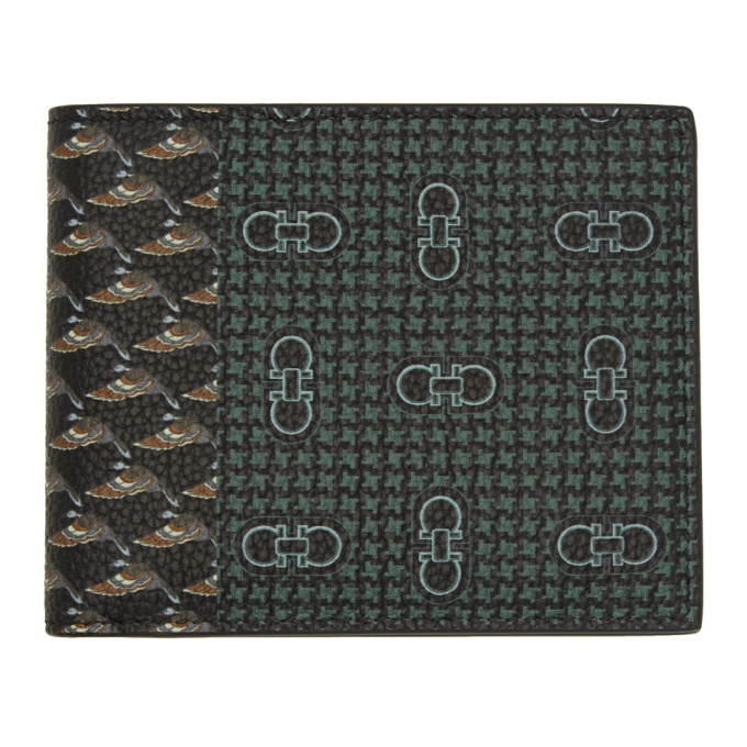 Photo: Salvatore Ferragamo Green Archive Print Wallet