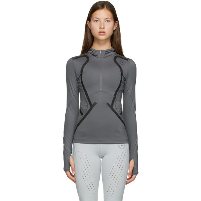 Photo: adidas by Stella McCartney Grey Hooded TruePace Sweatshirt