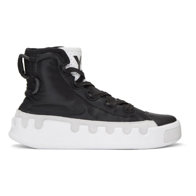 Photo: Y-3 Black Kasabaru High-Top Sneakers