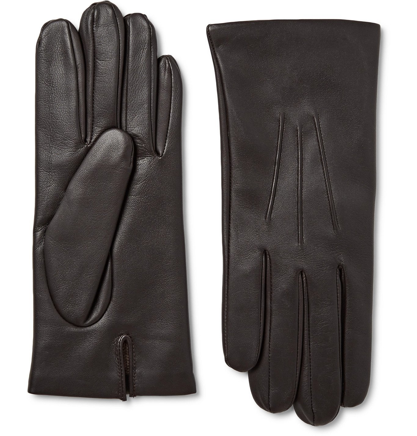 Photo: Dents - Bath Cashmere-Lined Leather Gloves - Brown