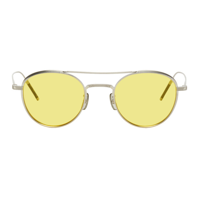 Photo: Oliver Peoples Silver Takumi 2 Round Sunglasses