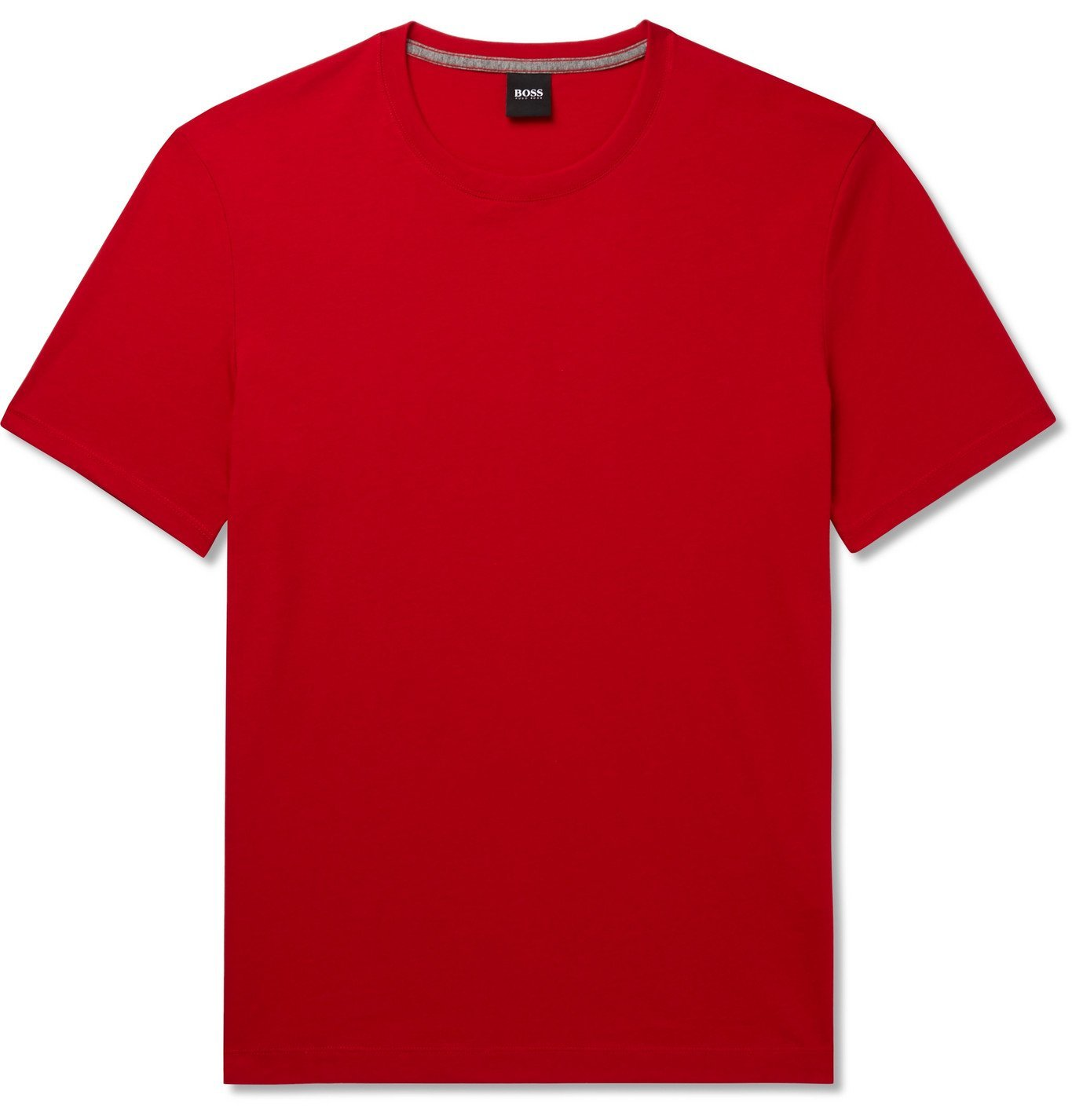 Photo: Hugo Boss - Slim-Fit Cotton-Jersey T-Shirt - Red