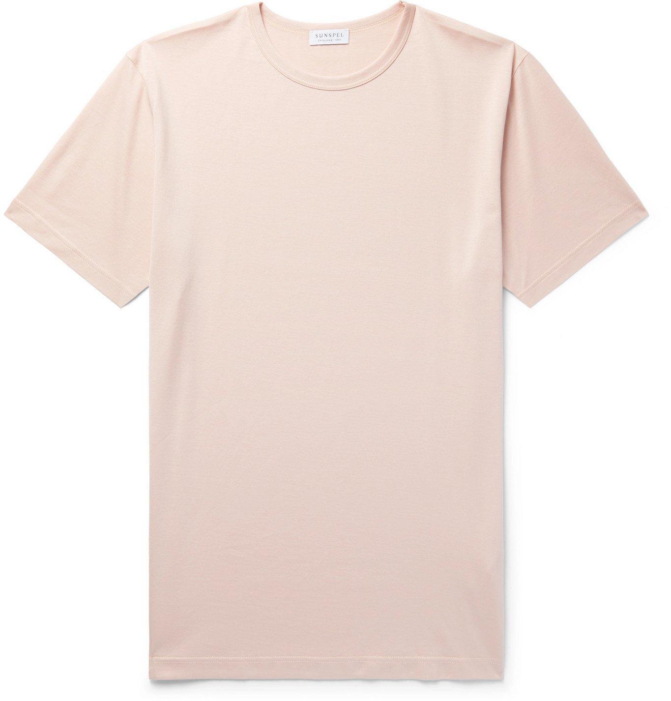 Sunspel - Slim-Fit Cotton-Jersey T-Shirt - Pink