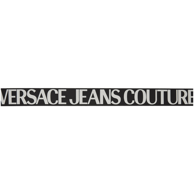 Versace Jeans Couture Black and White Logo Belt