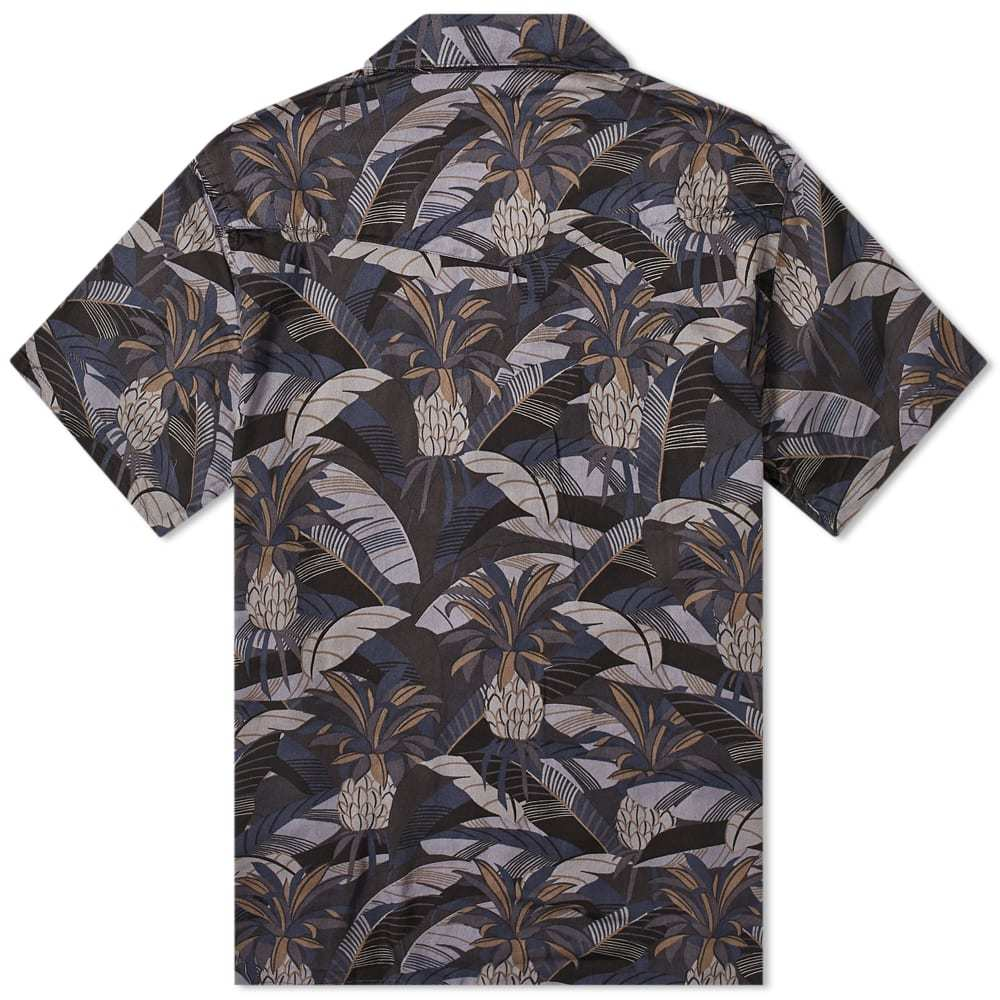 Officine Generale Dario Short Sleeve Tropical Print Shirt