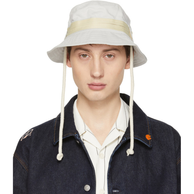 Photo: Acne Studios Off-White Bla Konst Sun M Sat Bucket Hat