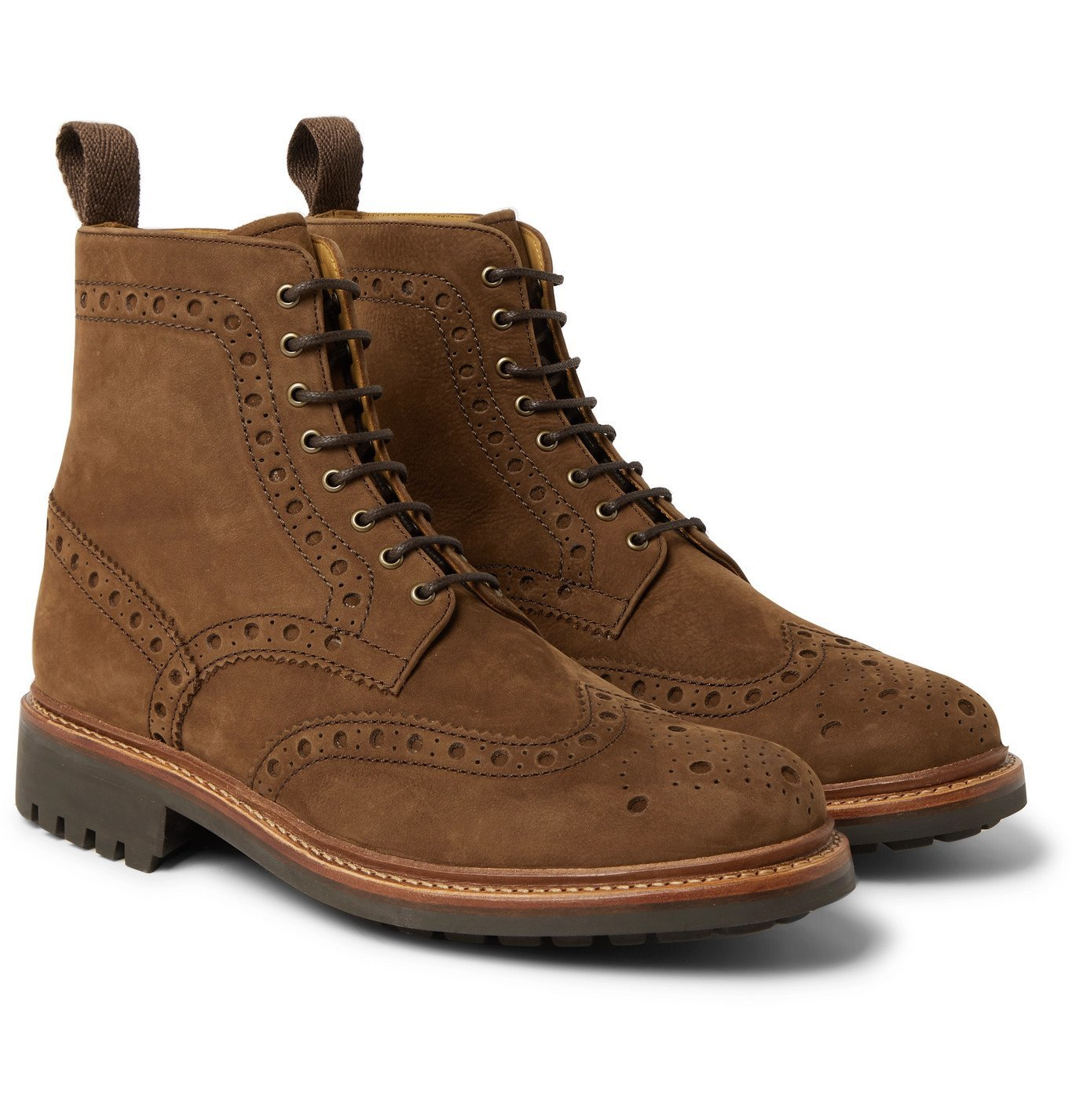 Photo: Grenson - Fred Nubuck Brogue Boots - Brown