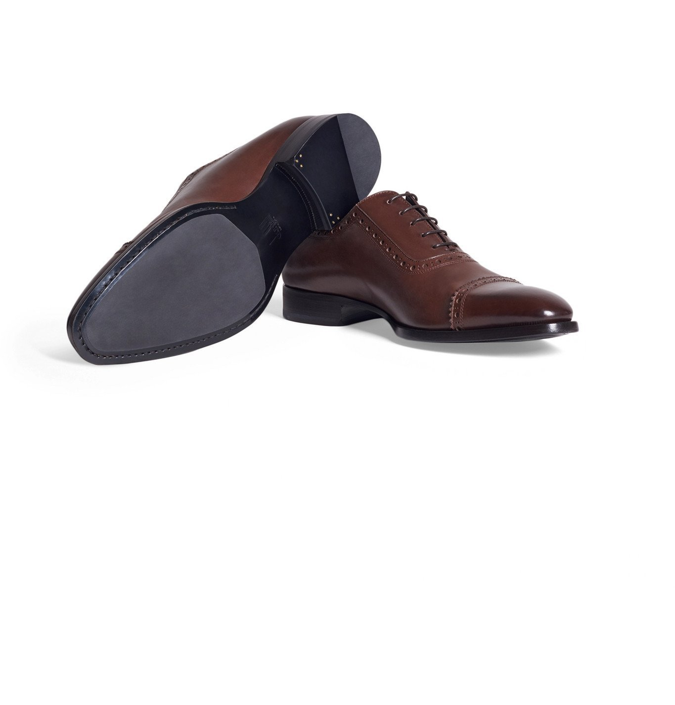 Photo: Dunhill - Cap-Toe Leather Oxford Brogues - Brown