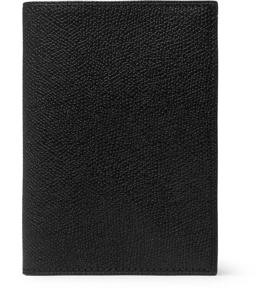 Photo: Valextra - Pebble-Grain Leather Passport Cover - Men - Black