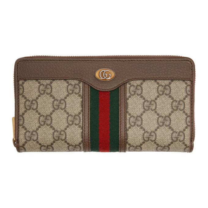 Photo: Gucci Beige GG Ophidia Zip Around Wallet