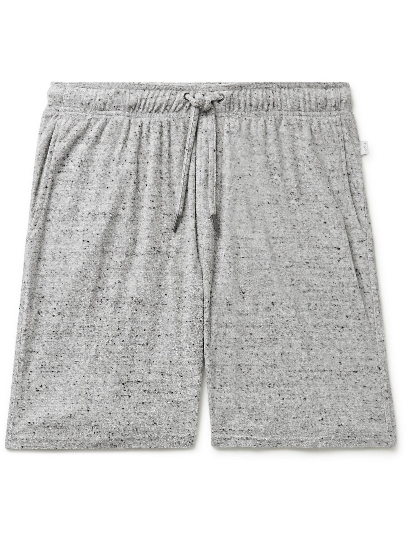 Photo: ONIA - Saul Mélange Cotton-Blend Terry Shorts - Gray