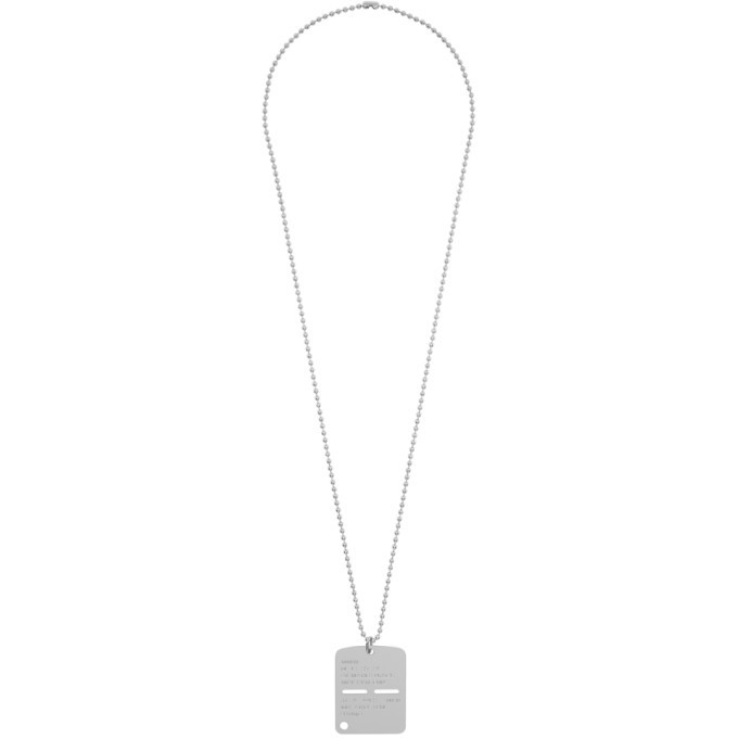 Photo: 1017 ALYX 9SM Silver Military Tag Necklace