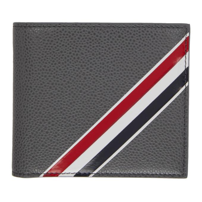 Photo: Thom Browne Grey Striped Bifold Wallet