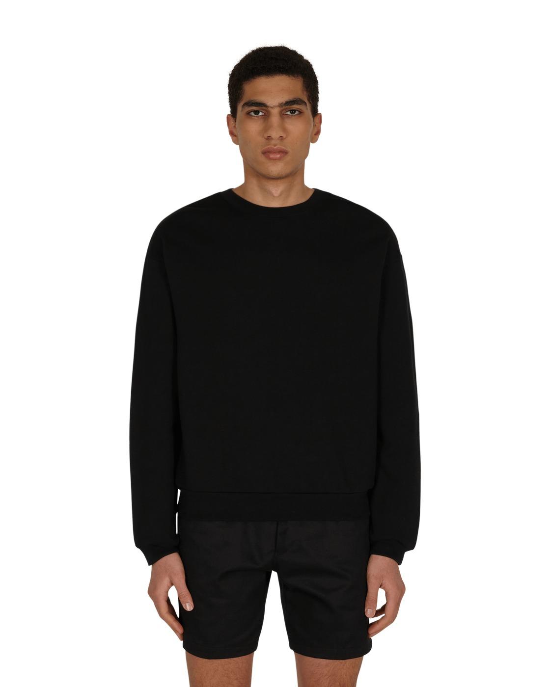 Photo: Kapital Eco Fleece Crewneck Sweatshirt Black