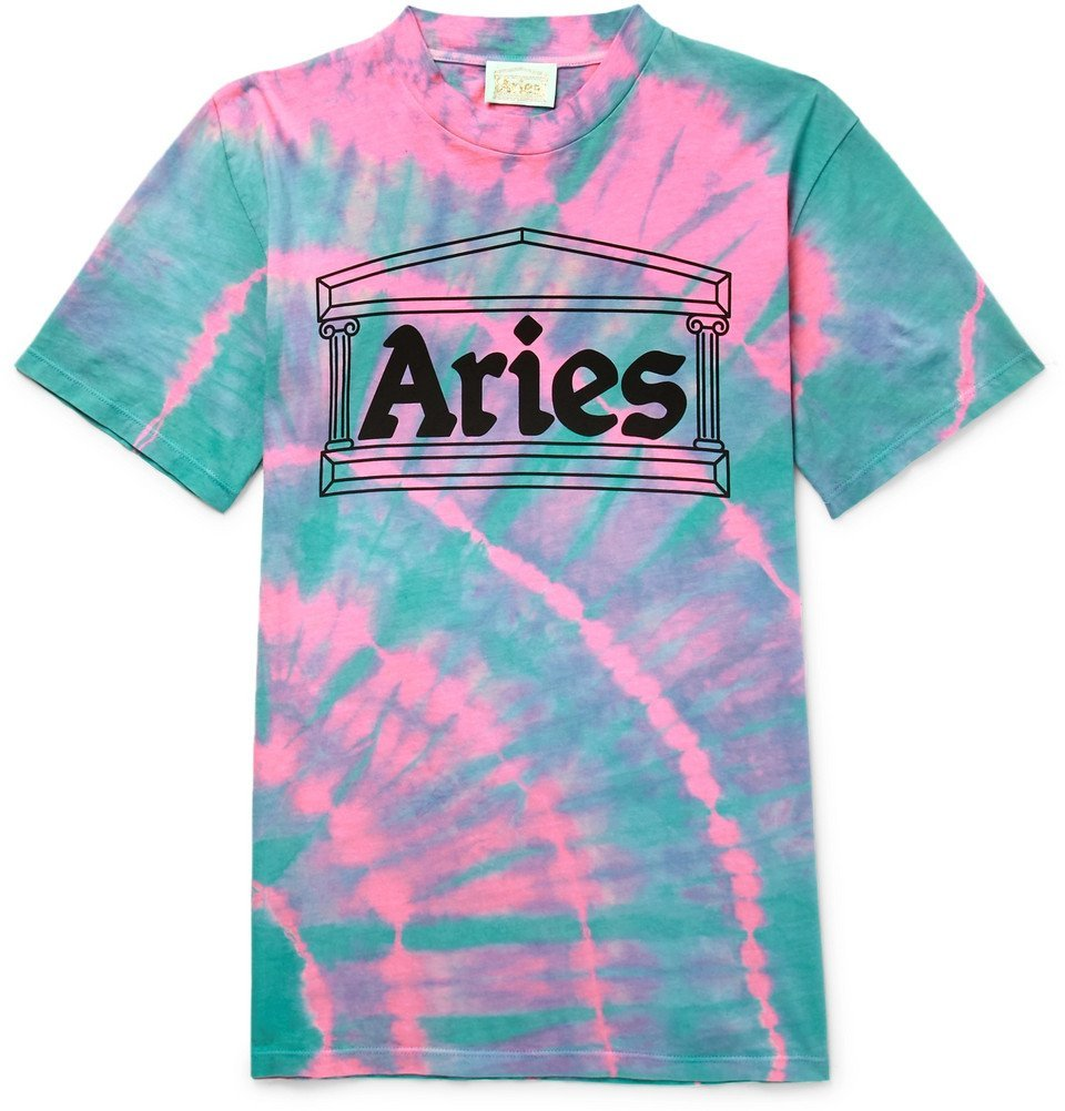 Aries - Temple Tie-Dyed Cotton-Jersey T-Shirt - Men - Pink