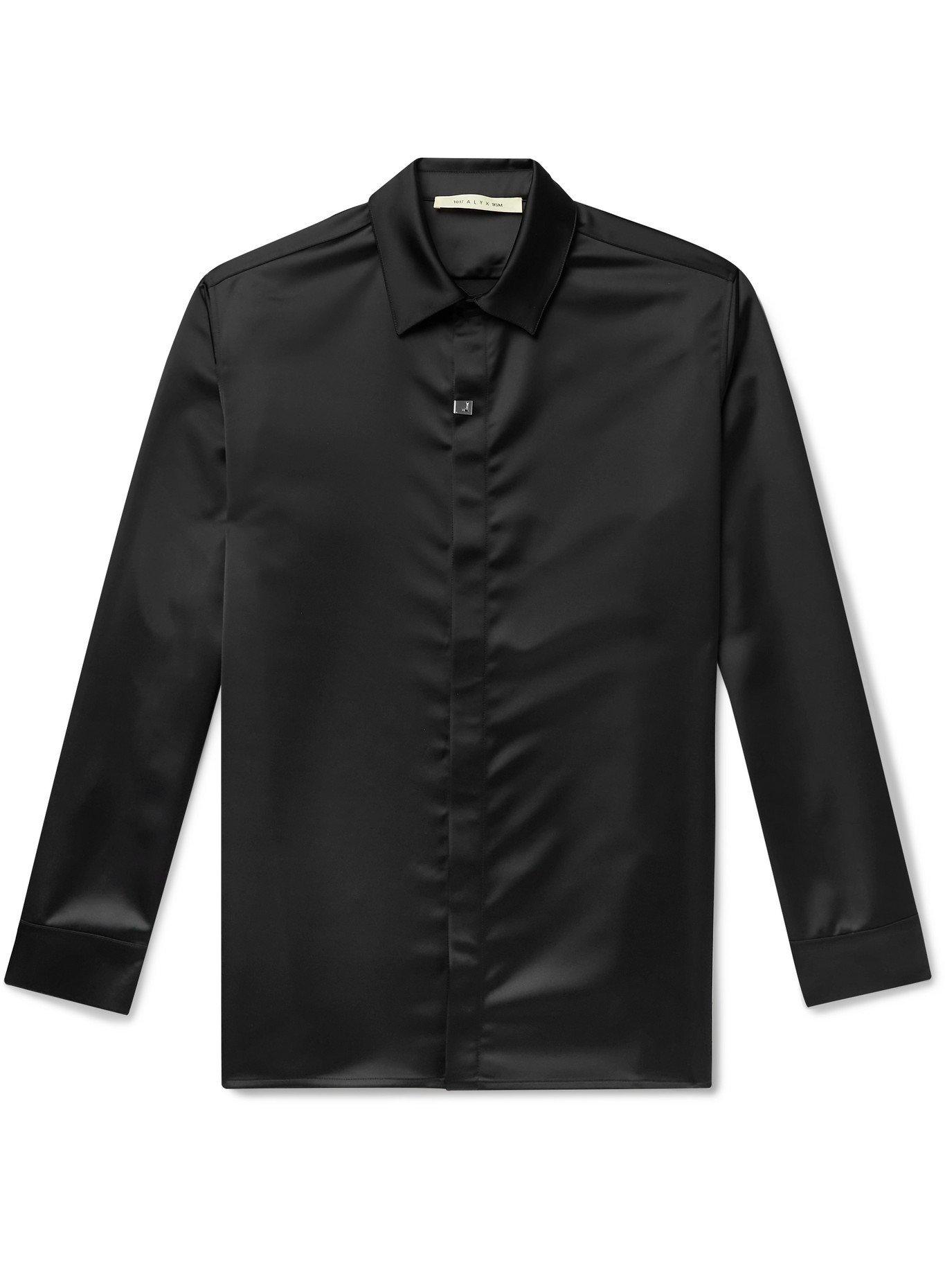 Photo: 1017 ALYX 9SM - Satin Shirt - Black - L