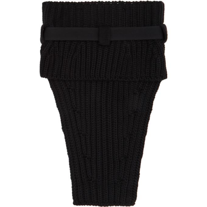 1017 ALYX 9SM Black Knit Buckle Neck Warmer Scarf