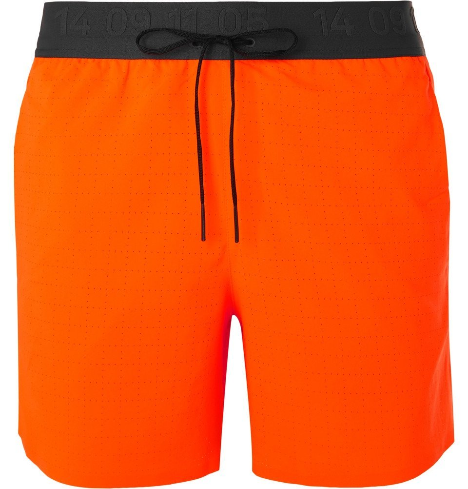 Photo: Nike Running - Tech Pack Flex Stride Slim-Fit Dri-FIT Shorts - Orange