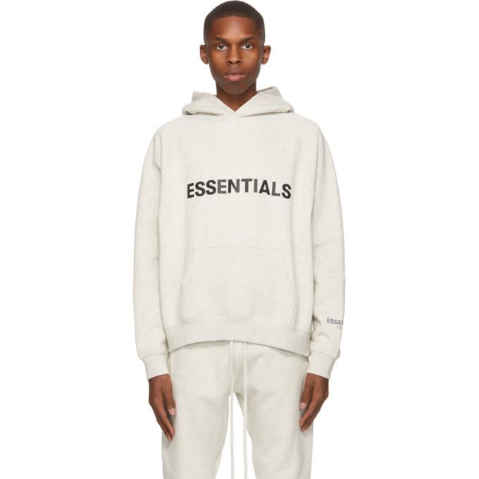 Photo: Essentials Grey Pullover Logo Hoodie