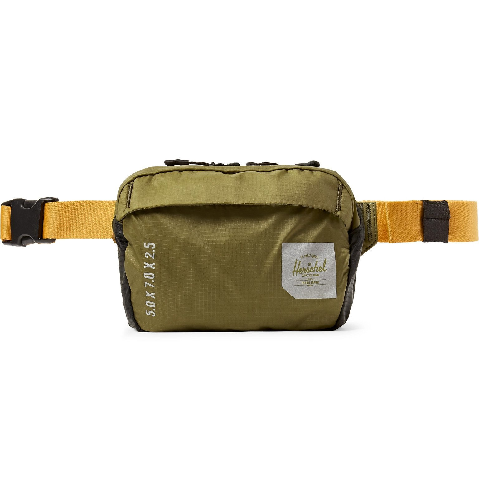 Photo: Herschel Supply Co - Trail Tour Small Ultralight Nylon-Ripstop Belt Bag - Green
