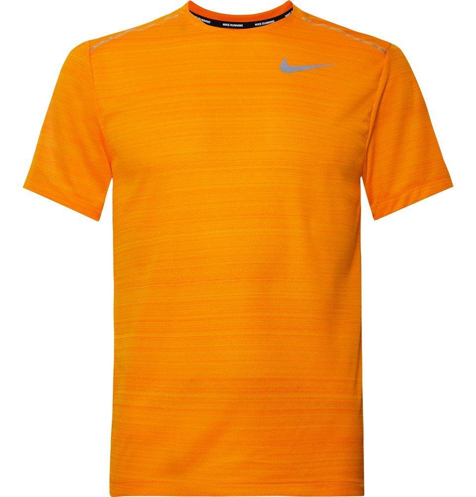 Nike Running - Miler Breathe Dri-FIT Mesh T-Shirt - Bright orange