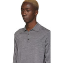 Sunspel Grey Merino Wool Polo