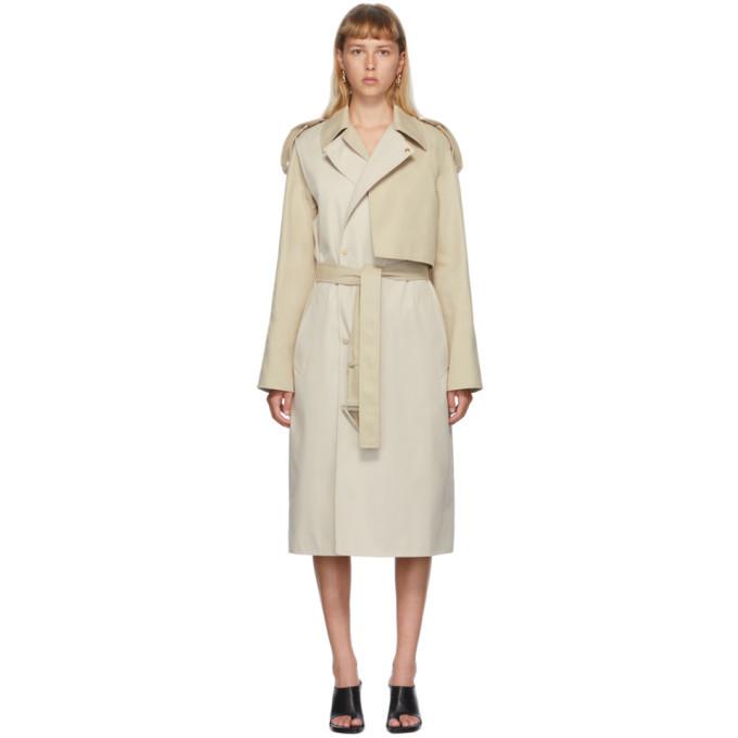 Photo: Bottega Veneta Beige Deconstructed Twill Coat