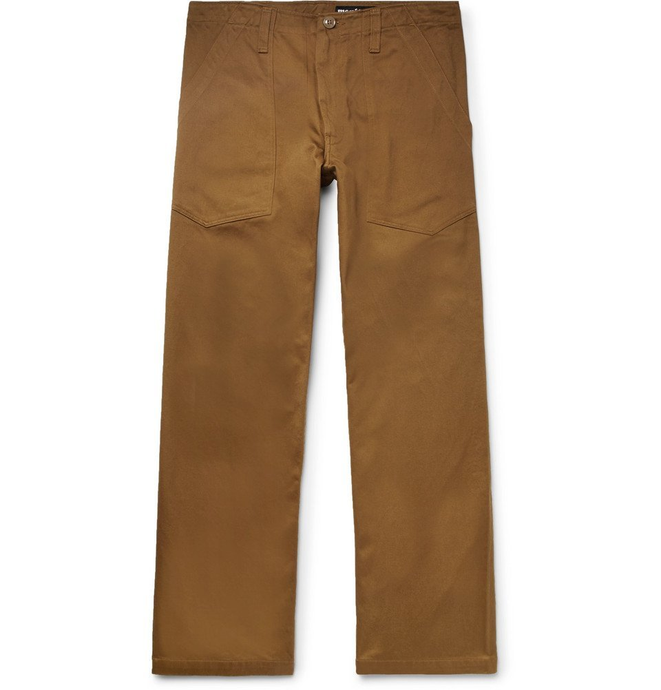 Photo: Monitaly - Cropped Cotton-Twill Trousers - Brown